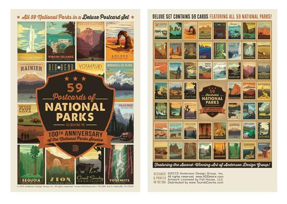 59 Postcards of National Parks: Celebrating the 100th Anniversary of the National Parks Service - ISBN13: 694429043X